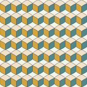 Vector geometric endless pattern. Stock Illustration