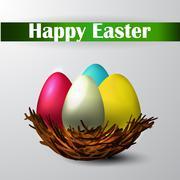 Easter nest isolated - stock illustration