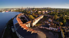 One of the buildings in the city of Kopli Stock Footage