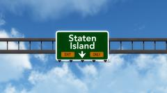 Staten Island USA Interstate Highway Sign Stock Illustration