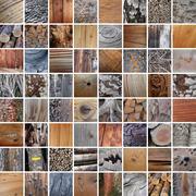 64 wood textures Stock Photos