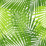 Palm leaf silhouettes seamless pattern. Tropical leaves. Vector illustration - stock illustration