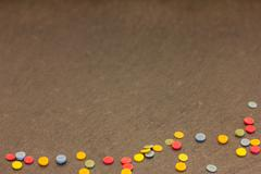 Colorful sugar confetti Kuvituskuvat