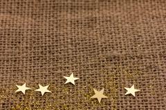 Many golden stars Stock Photos