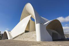Auditorio de Tenerife congress and concert hall Santa Cruz de Tenerife Canary Stock Photos