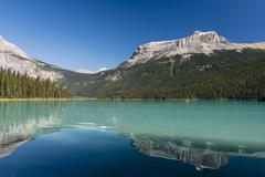 Emerald Lake Yoho National Park Canadian Rockies British Columbia Province - stock photo