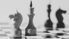 Chess Kings And Knights Radial Dolly - stock footage