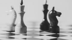 Chess King and Knights  Radial Dolly - stock footage