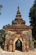 Stupa at Yadana Hsemee or Yadana Hsimi Pagoda Complex Inwa Myanmar Asia - stock photo