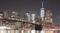 Brooklyn Bridge Time Lapse - stock footage