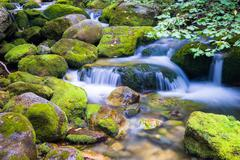 Creek in the Ligurian Alps - stock photo