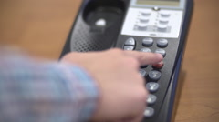 Placing Caller on Hold and Hanging Up Phone Stock Footage