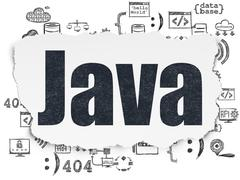 Programming concept: Java on Torn Paper background Stock Illustration