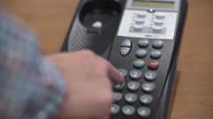 Answering Phone and Transferring Caller Stock Footage