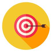 Aim with Arrow Circle Icon - stock illustration