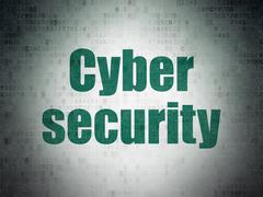 Safety concept: Cyber Security on Digital Paper background Piirros