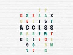 Privacy concept: Access in Crossword Puzzle - stock illustration
