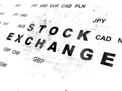 Finance concept: Stock Exchange on Digital background - stock illustration