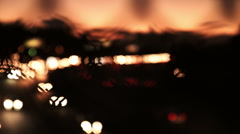 Los Angeles Freeway 2 and Skyline at Sunset - Color Corrected - stock footage