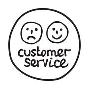 Doodle Customer Service icon Stock Illustration