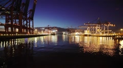 Hamburg container terminal Stock Footage