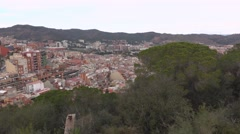 El Carmel area panning shot, city houses nested down hillside Stock Footage