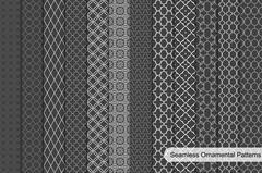 Ornamental seamless patterns. - stock illustration