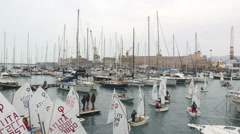 The port during the race Stock Footage