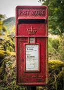 Vintage Rural British Post Box Kuvituskuvat
