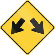 United States MUTCD road sign - Left or right Stock Illustration