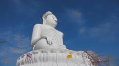 Big Buddha monument Stock Footage