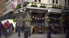 The red lion, famous pub of London - stock footage