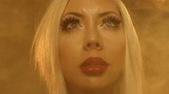 beauty woman in the smoke- Stock Footage