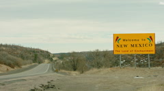Welcome to New Mexico Sign  Stock Footage