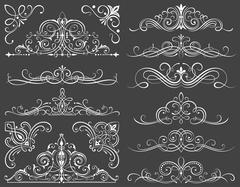 Calligraphic Frames And Scroll Elements II - stock illustration