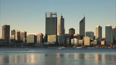 late afternoon perth and ferry - stock footage