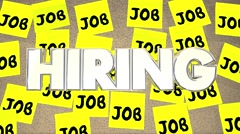 Hiring Jobs Posting Board Classified Help Wanted Find Work Stock Footage