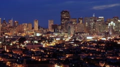 San Francisco at Night Timelapse Stock Footage