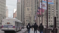 Chicago's Michigan Ave Stock Footage