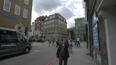 Walking on St Thomas Street and Borough High St in London - stock footage