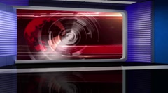 News TV Studio Set 117 - Virtual Green Screen Background Loop Stock Footage