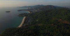 Aerial pan from Karon viewpoint Stock Footage