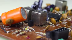 Circuit Boards with Electronic Components - stock footage