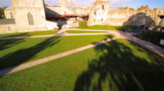 The ruins of the castle in Haapsalu Stock Footage