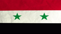 Syrian flag waving in the wind (full frame footage) Stock Footage