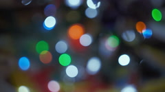 Abstract blurred Christmas background Stock Footage