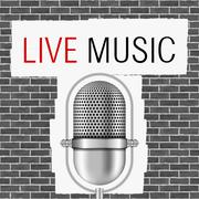 Live Music Banner - stock illustration