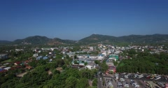 Rising aerial over chalong Stock Footage