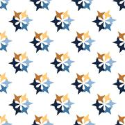 Seamless Colorful Abstract Pattern from Repetitive Stars Stock Illustration