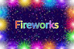 Firework, Holiday Background Piirros